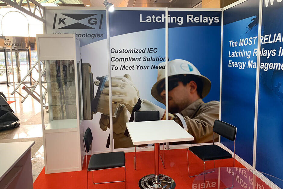 tradeshow booth for kg technologies